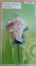 """fairy garden Gnome with glitter hat Welcome Sign bird Stake indoor outdoor 5.5"""""""