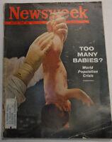 Newsweek Magazine Too Many Babies? July 23, 1962 100316R2