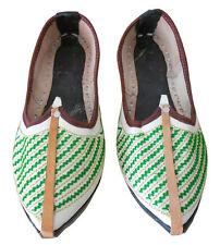 Mojari Espadrilles Men Shoes Leather Flip Flops Jutti Flat UK 8.5 EU 42