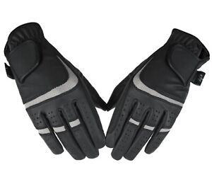 Horse Riding Equestrian Gloves Synthetic Leather Ladies breathable Gloves Grey