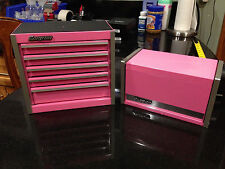 Snap On Tools Micro ToolBox Pink **RARE** TOP & BOTTOM SET