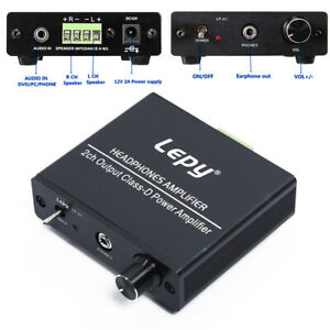 1pc 12-14.4V Hi-Fi Stereo Audio Headphones Amplifier 2 Channel Output Supplies