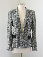 Banana Republic Black White Gray Static Tweed Blazer Jacket Size 12P P12
