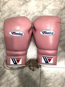 Winning Japan MS-500 14 Oz Pink Boxing Gloves
