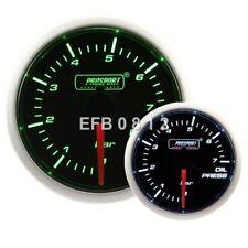 52 mm motor paso a paso ProSport Ahumado Verde/Blanco Manómetro De Aceite-Bar