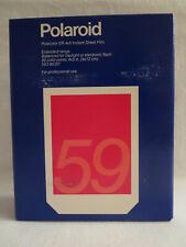 Nib Polaroid 59 Instant 4x5 Sheet Film 20 Color Prints Exp Apr '95 Iso 80/20