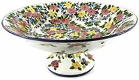 """Tabletops Unlimited - Spring Chintz Footed Pedestal Bowl 15"""" Inches NEW IN BOX"""