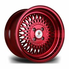 "Stoccarda ST1 15"" x 8 4x100 Cerchi in lega CANDY APPLE RED"