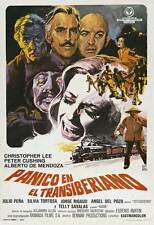 HORROR EXPRESS Movie POSTER 27x40 Spanish Christopher Lee Peter Cushing Telly