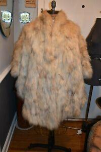 fox fur cape cloak coat jacket shawl 40x34in OSFM
