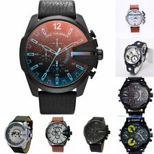 Hot Men Fashion Classic Square Round Leather Quartz Wristwatches Silicone Watch