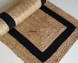 Rug for Home Rooms and kitchen Natural Braided Jute reversible rustic look rugs