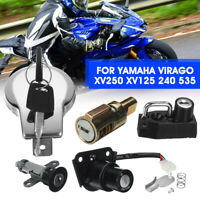 Zündschloss Tankdeckelschlossschlüsselsatz für Yamaha Virago XV250 XV125 240