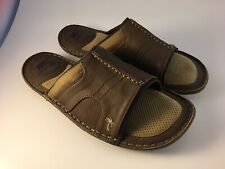 Margaritaville Men's St. Martin Grove Dark Brown Slide Sandals Size 10 EUC