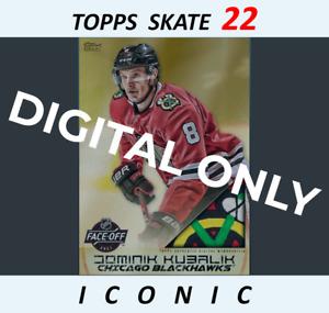 DIGITAL Topps Skate Faceoff ICONIC Gold Relic Dominik Kubalik Chicago Blackhawks