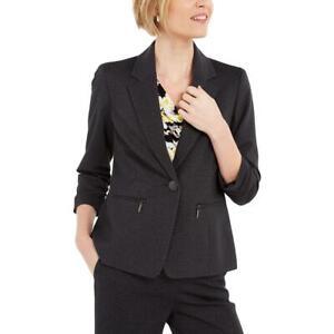 Kasper Womens Ruched One-Button Business Blazer Jacket Petites BHFO 5084