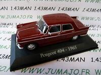 G voiture 1/43 RBA Italie IXO : PEUGEOT 404 1965