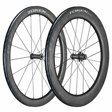 TOKEN 2018 KONAX PRO+TRI Carbon Tubeless Wheelset for Road Bike, Wheel, 52-76mm