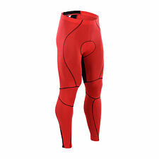 Red Cycling Tights and Pants