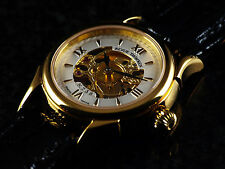 Revue Thommen Women's Swiss Made Mechanical Hand Wind Gold Plated Sapphire Watch
