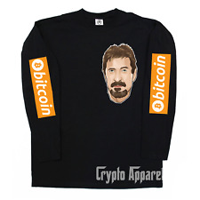 John McAfee Bitcoin BTC Crypto Long Sleeve T-Shirt