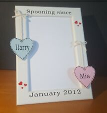 Pesonalised 5x7 picture photo frame valentines engagement girlfriend gift
