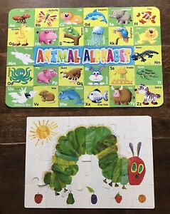 2 Giant Floor Puzzles: Grafix Animal Alphabet + The Very Hungry Caterpillar