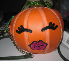 BETSEY JOHNSON BETSEY O' LANTERN PUMPKIN ORANGE CROSSBODY PURSE
