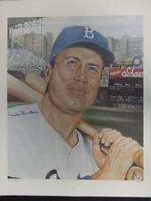 Duke Snider Signed 22x25 Robert Simon Lithograph Autograph Auto PSA/DNA X84269
