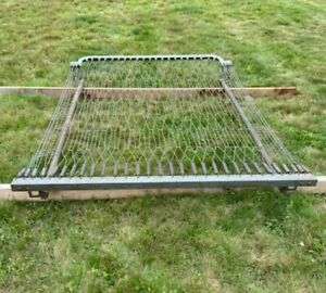 """Antique Full Size Double Metal Bed Frame Unbranded 52"""" x 72"""""""
