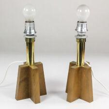 VTG Paar Doria Tisch Lampen Holz 60er 70er Jahre vintage Leuchten X-Base Fuß alt
