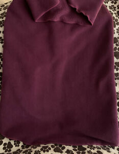 "Goldpaw Dog Stretch Fleece Cozy Coat Popover Jacket Purple Made USA 16"" NWT $32"