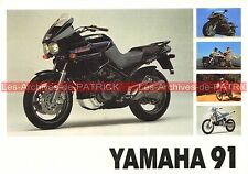 YAMAHA Gamme 1991 WR 250 200 TT 600 350 TY R YZ 80 125 PW 50 80