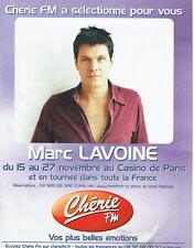 Publicité Advertising 028  2005  concert  Marc Lavoine Casino radio Chérie FM
