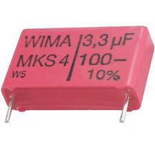 10 St WIMA MKS-4 Kondensator 3,3 µF 100 VDC RM22,5 ±10% Rohs konforme  Neuware