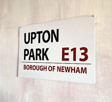 Upton Park West Ham Football street sign A4 metal plaque decor