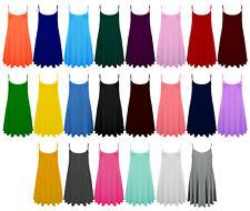 New Women Ladies Plain Summer CAMI SWING MINI DRESS Long Top vest Plus lot Size