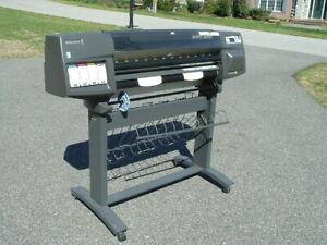 """36"""" HP DesignJet 1055cm (C6074A) Large Wide Format Inkjet Printer / Plotter GOOD"""