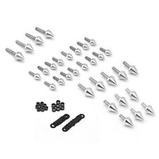 Fit For GSXR 750 2001 2002 GSX-R 1000 Silver Motorcycle Spike Fairing Bolts Kit