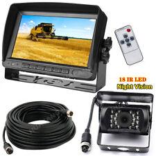 """RVs Truck Caravan 4Pin 7"""" LCD TFT HD Monitor and IR Backup Camera Reverse System"""