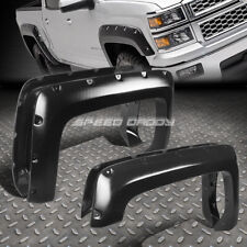 FOR 14-17 CHEVY SILVERADO 6.5'-8'BED 4PCS POCKET-RIVETED WHEEL FENDER FLARES SET