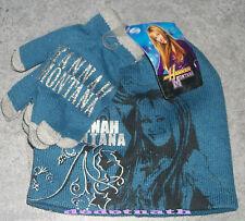 ensemble Bonnet gants collection HANNAH MONTANA chapeau bob Walt Disney neuf