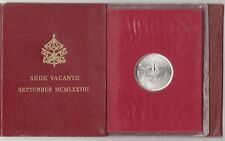 VATICANO 1978 Lire 500 SEDE VACANTE  SETTEMBRE  LUCIANI ARGENTO SET DI ZECCA