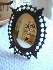 "Vintage Metal Table Mirror or Picture Frame 7"" X 6"""