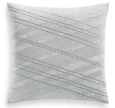 "Hotel Collection 20'' X 20"" Lateral Striped Square Grey Decorative Pillow"