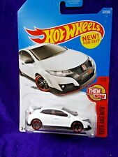 2017 Hot Wheels '16 Honda Civic Type R Then And Now #1/10 White Diecast Mattel
