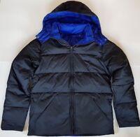 Boden Mens Reversible Down Puffer Jacket Coat BLACK / BLUE XS-M-L-XL-XXL