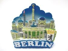 Berlin Magnet Poly Gloss Souvenir Germany Brandenburg Gate Victory Column