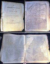 1843 UNITED STATES ATLAS TEXAS BORDER LANDS NEW YORK SIDNEY MORSE SAMUEL BREESE