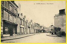 cpa ERNÉE (Mayenne) Place MAZARIN Epicerie H. BARBEDETTE Bureau de POSTE cachet